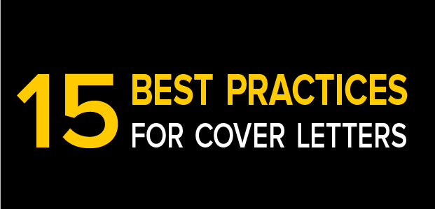 15 best practices for cover letters infographic thriveyard