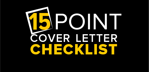 15-Point Cover Letter Checklist – Infographic