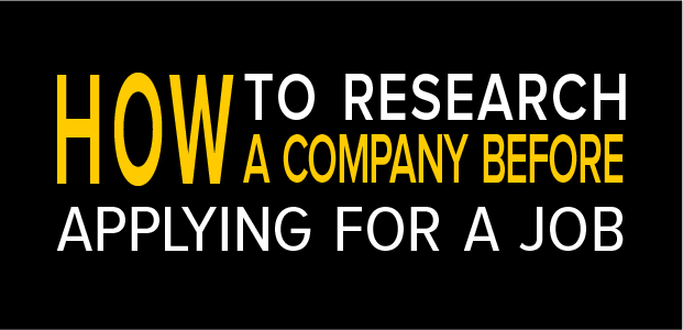 How To Research A Company Before Applying For A Job - Infographic