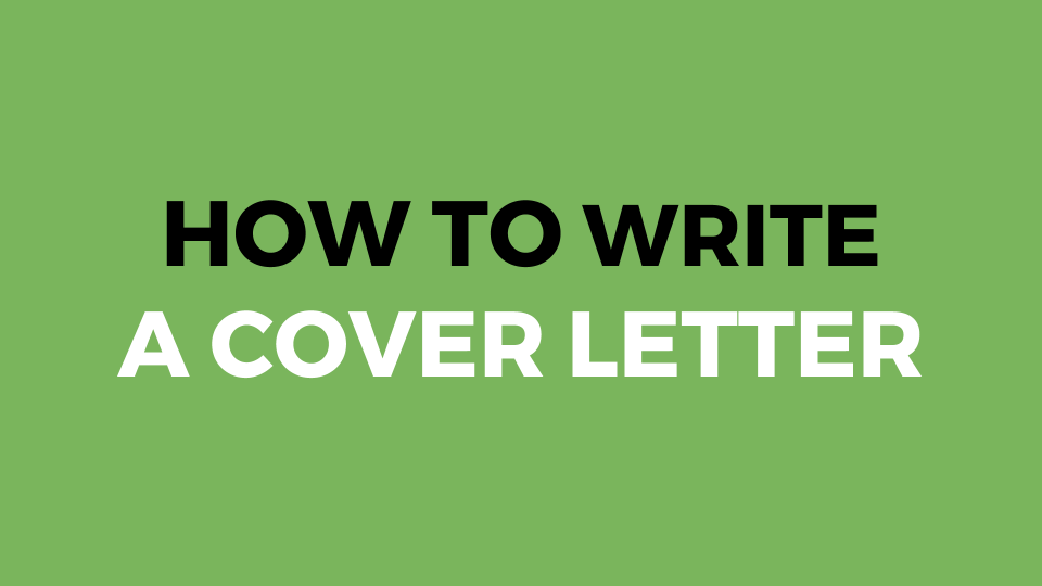 How To Write A Cover Letter (Slide Presentation)